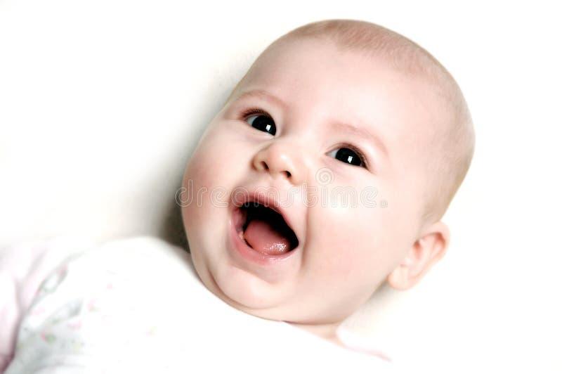 leende för barn s arkivfoton