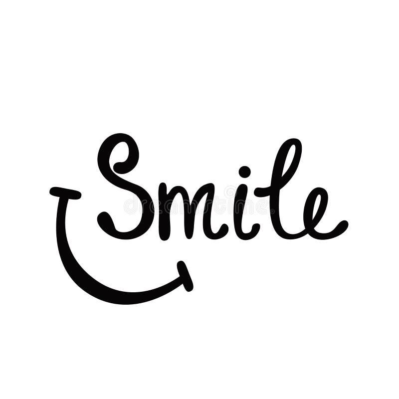 leende Inspirerande citationstecken om lyckligt arkivfoto
