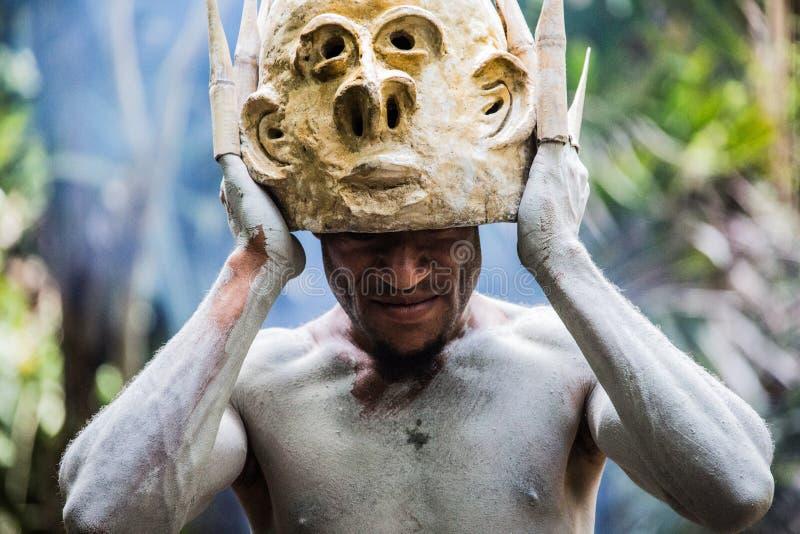 Leenden av Papua Nya Guinea arkivbilder
