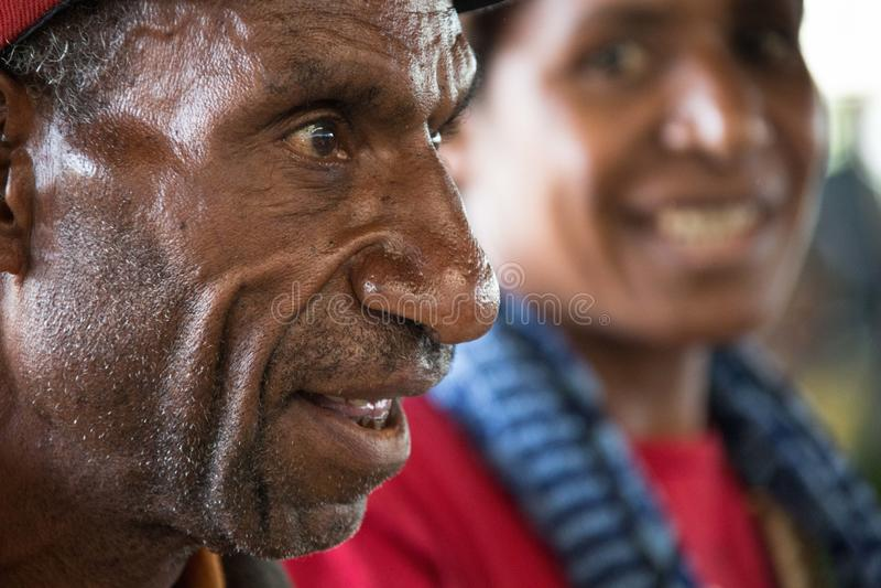 Leenden av Papua Nya Guinea royaltyfri foto