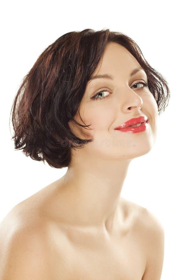 leenden för hud för skönhetflicka goda naturliga royaltyfria bilder