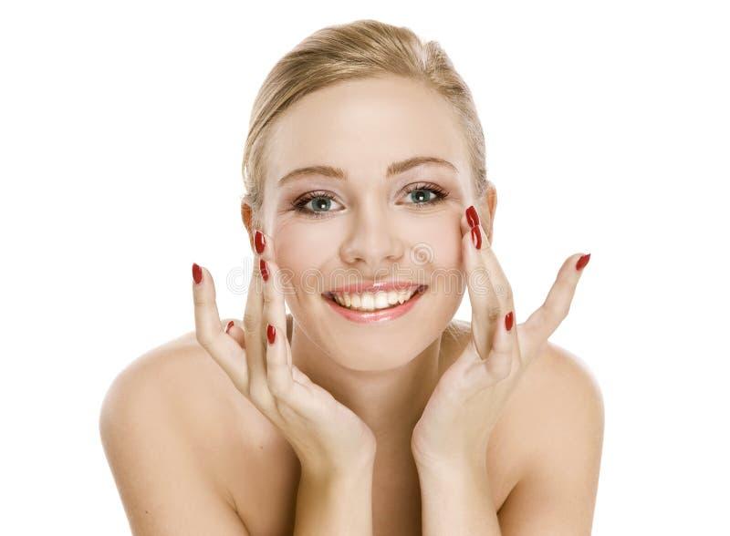 leenden för hud för skönhetflicka goda naturliga arkivfoton