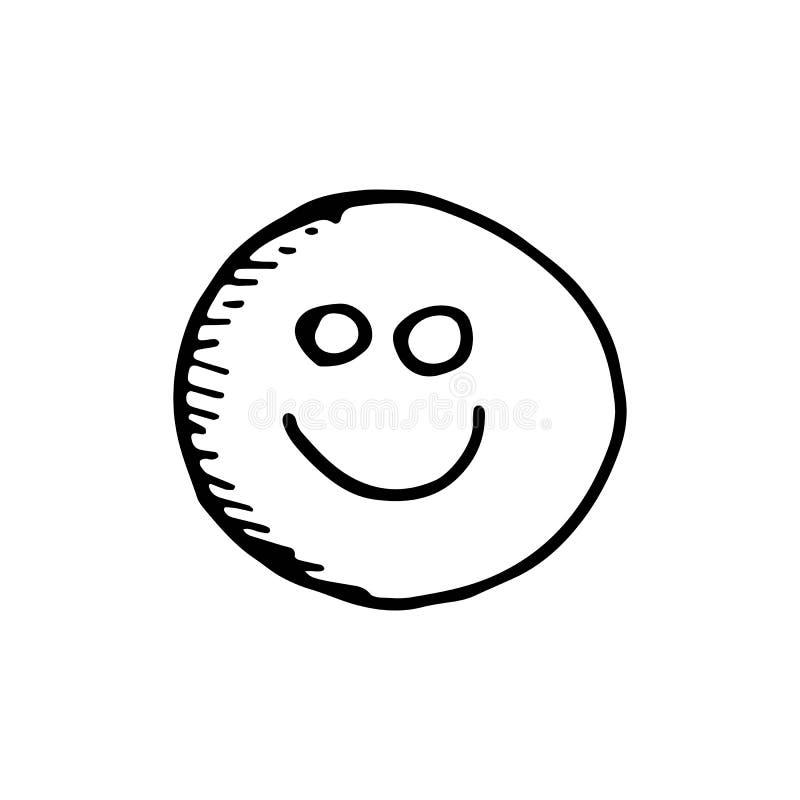 Leendeteckningssymbol skissa isolerat objekt vektor illustrationer