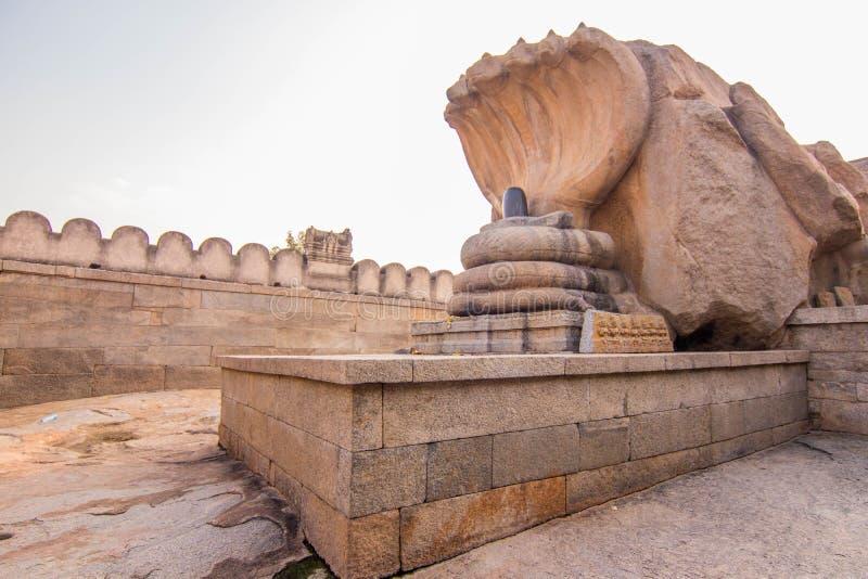 Leepakshi tempel på den Andhra Pradesh Indien sighten arkivfoto