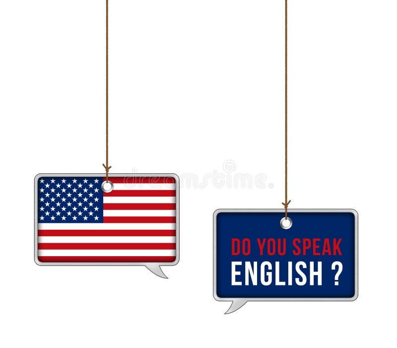 Leer Amerikaans Engels vector illustratie