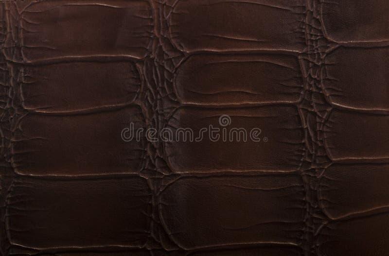 Leer bruine in reliëf gemaakte textuur stock fotografie