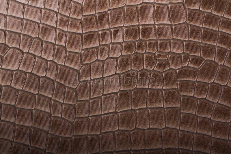 Leer bruine in reliëf gemaakte textuur royalty-vrije stock afbeelding
