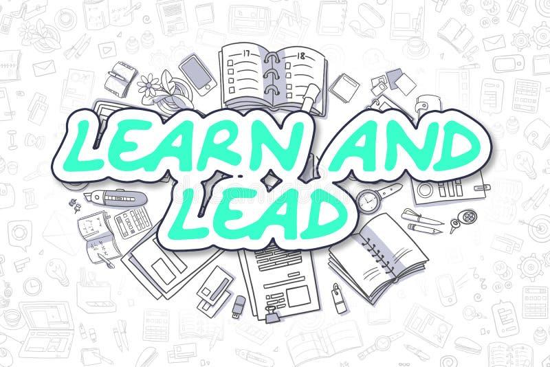 Leer en leid - Beeldverhaal Groen Word Bedrijfs concept vector illustratie