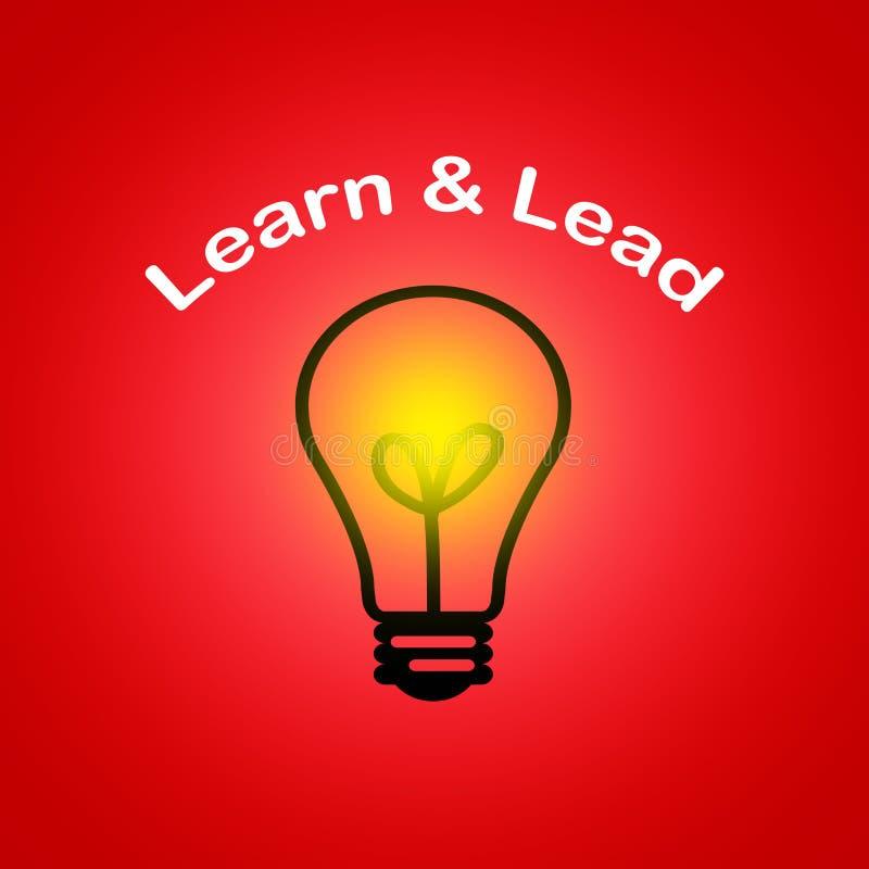 Leer en leid - Leidings bedrijfsconcept royalty-vrije illustratie
