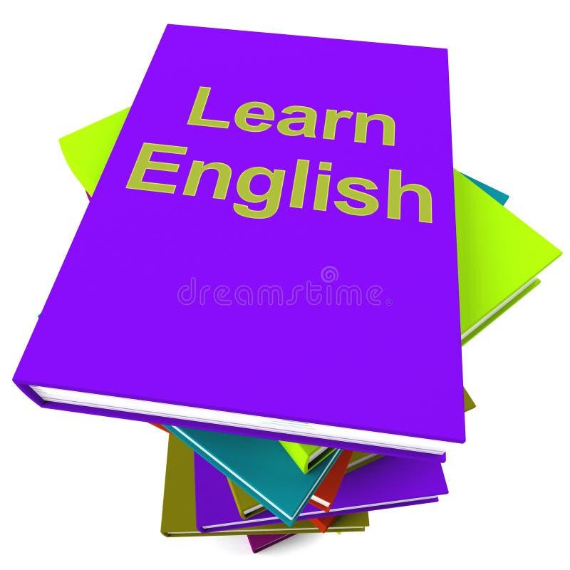Leer Engels Boek voor het Bestuderen van een Taal vector illustratie
