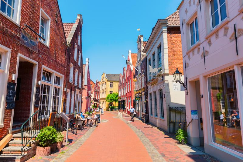 Old town of Leer, Ostfriesland, Germany stock photography