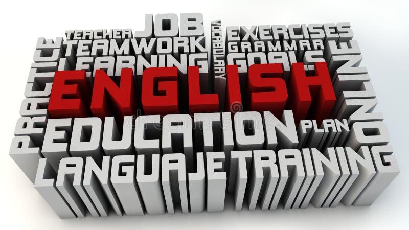 Leer het Engels stock illustratie
