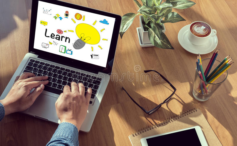 Leer het Leren Onderwijs Bestuderend Concept royalty-vrije stock foto's