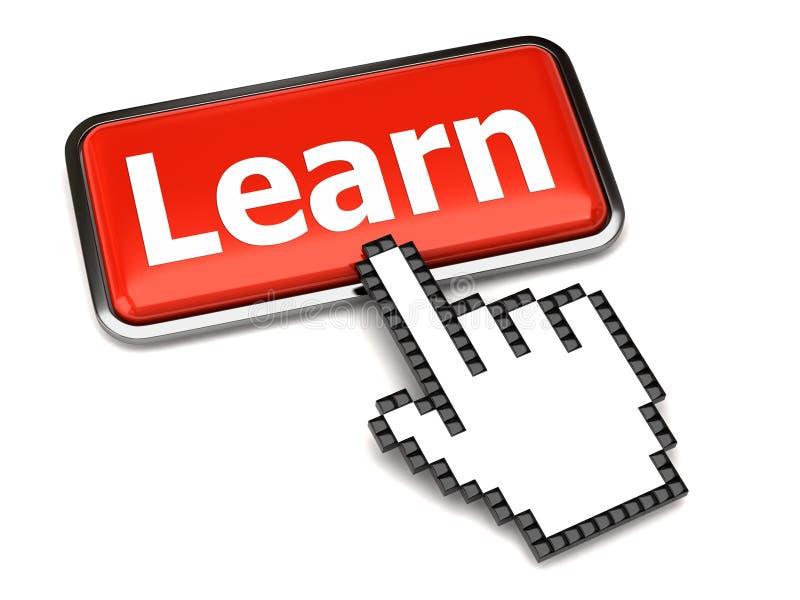 Leer knoop en handcurseur stock illustratie