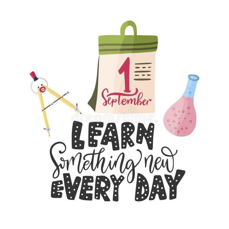Leer nieuw iets elke dag Vector stock illustratie