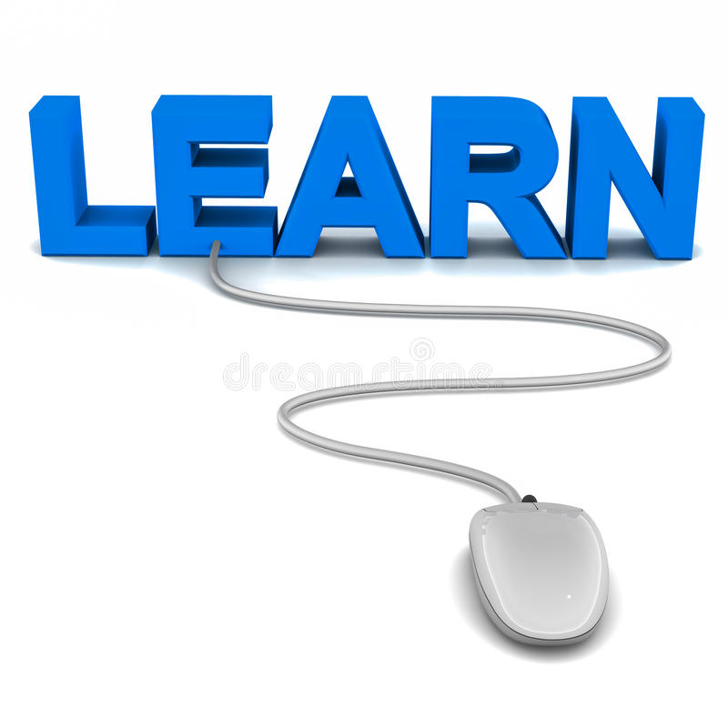 Leer online vector illustratie
