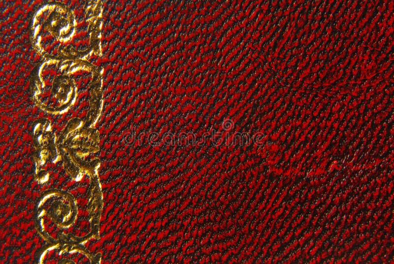 Leer rode uitstekende stijl stock afbeelding