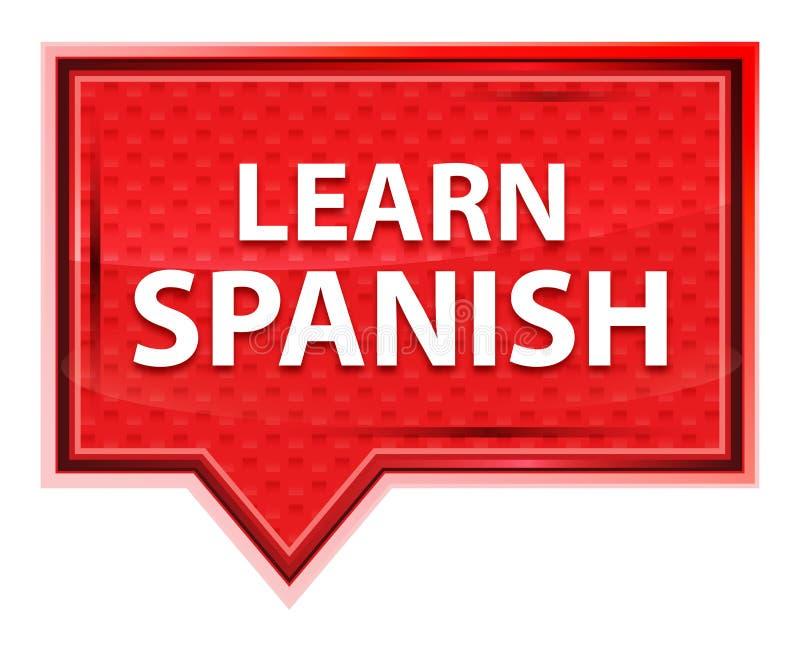 Leer Spaanse nevelig roze bannerknoop toenam stock illustratie