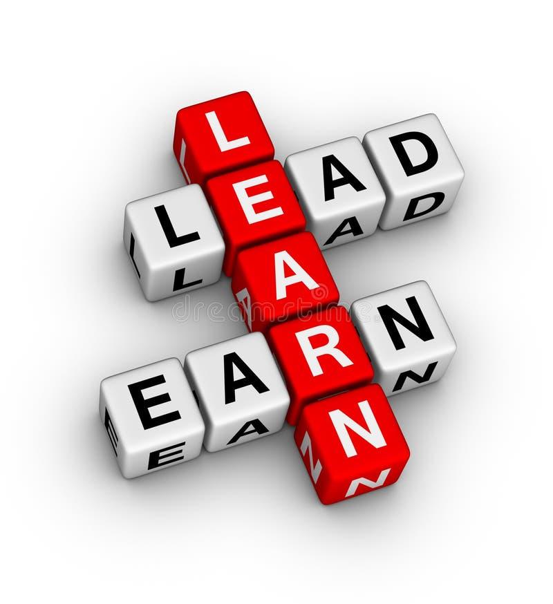 Leer te leiden en te verdienen stock illustratie