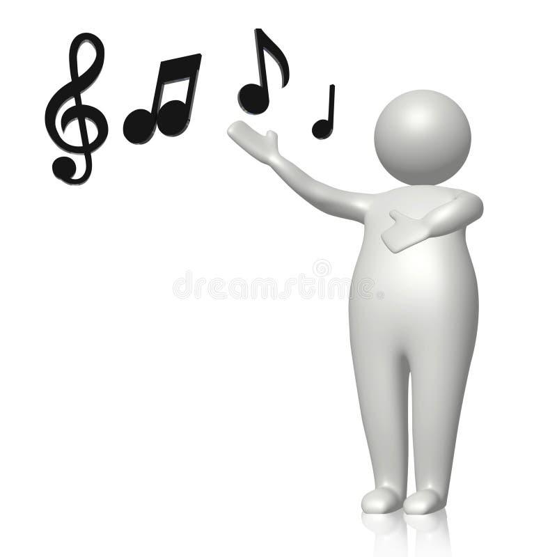 Leer te zingen royalty-vrije illustratie