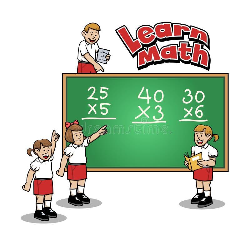 Leer Wiskunde op Basisschool royalty-vrije illustratie
