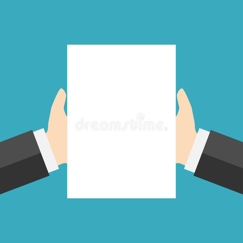 Leerbeleg des Weißbuches zur Hand stock abbildung