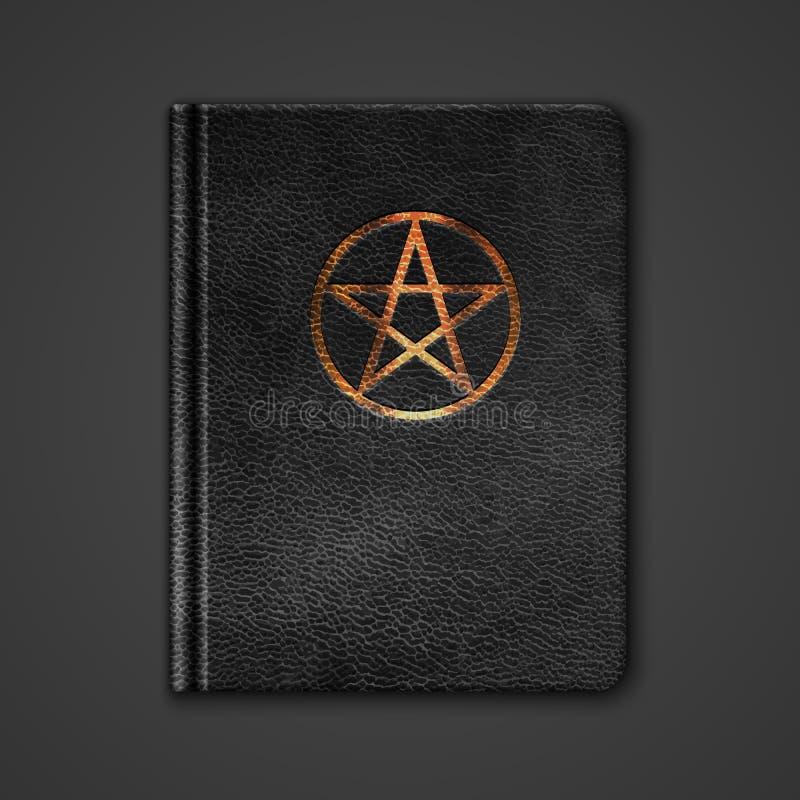 Leerboek met Pentagram stock illustratie