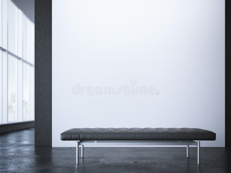 Leerbus in modern binnenland met witte muur het 3d teruggeven vector illustratie