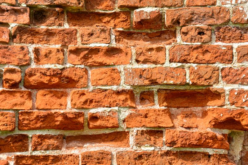Leere alte Backsteinmauer-Beschaffenheit Sehr ausf?hrlich und wirklich Schäbige Fassade des Gebäudes Abstrakte Web-Fahne Kopieren lizenzfreies stockfoto