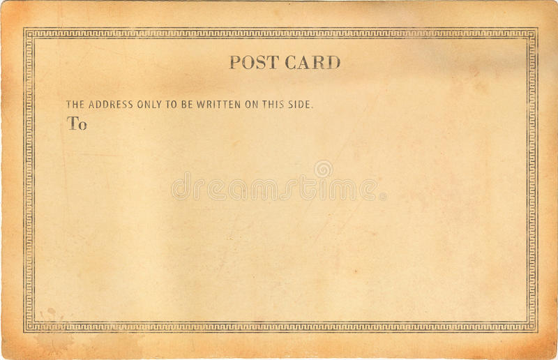 Leere alte Postkarte lizenzfreie stockfotografie