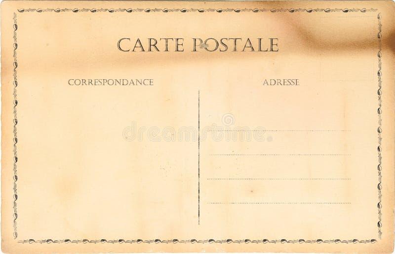 Leere alte Postkarte stockfotos