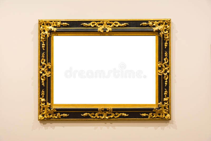 Leere Art Museum Isolated Painting Frame-Dekoration zuhause ummauern lizenzfreies stockfoto