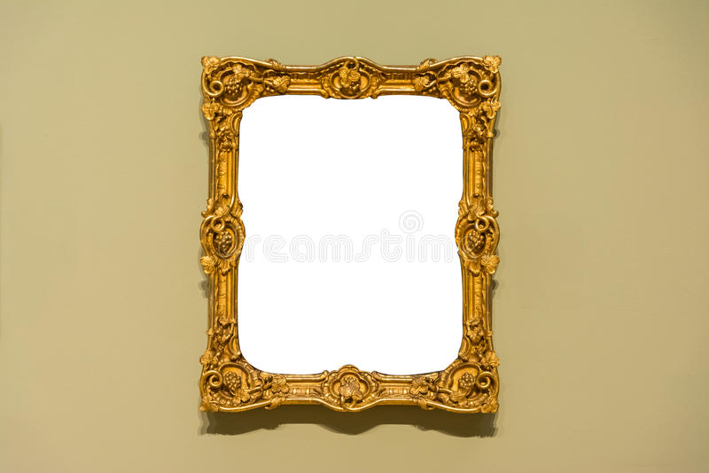 Leere Art Museum Isolated Painting Frame-Dekoration zuhause ummauern stockfoto
