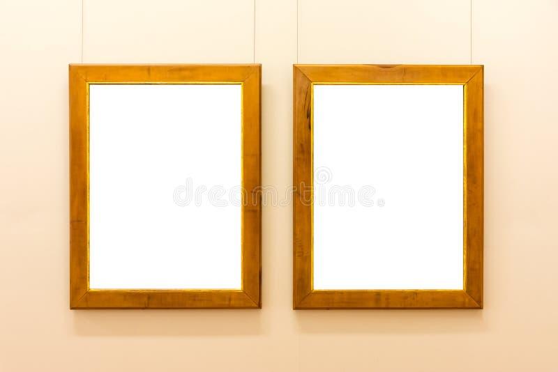 Leere Art Museum Isolated Painting Frame-Dekoration zuhause ummauern stockbild