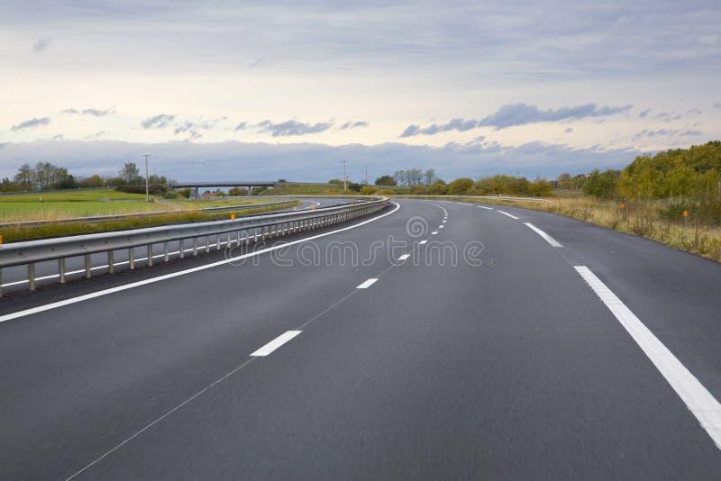 Leere Autobahn stockfotografie