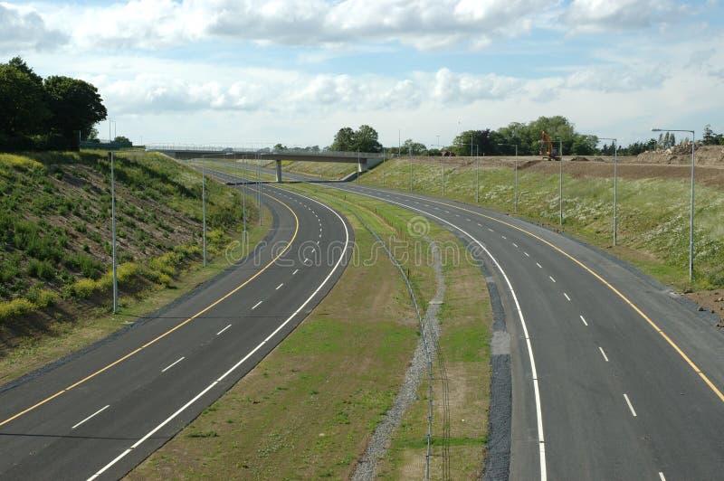 Leere Autobahnschlaufe stockfoto