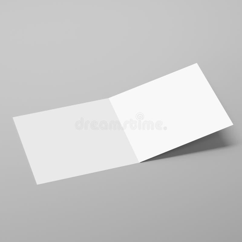 Leere Bi-Falten-Quadrat-Broschüre/Broschüre/Flugschrift/Gruß-Karte vektor abbildung