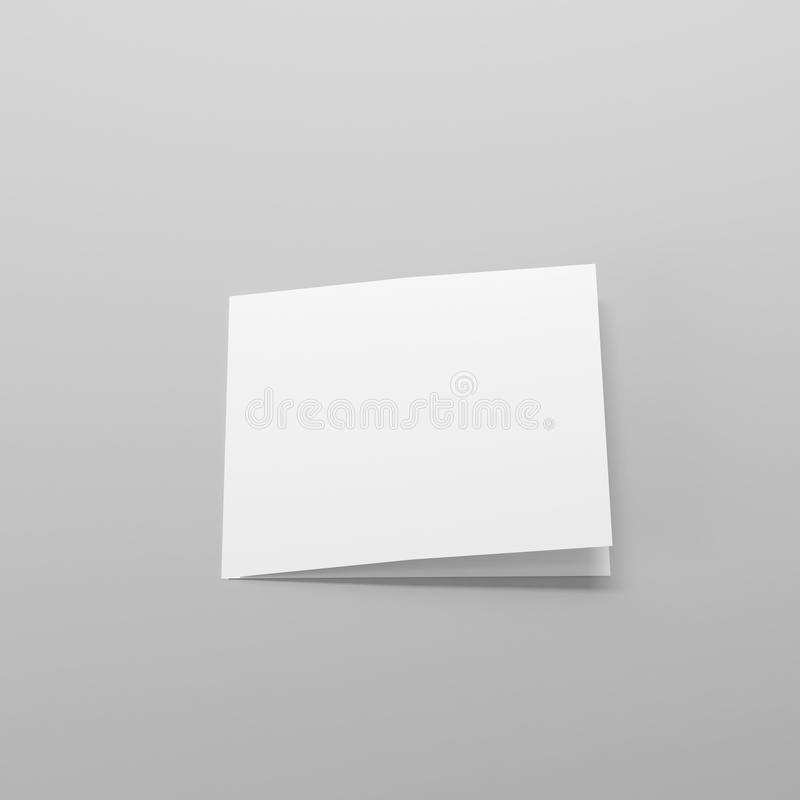 Leere Bi-Falten-Quadrat-Broschüre/Broschüre/Flugschrift/Gruß-Karten-Modell lizenzfreie abbildung