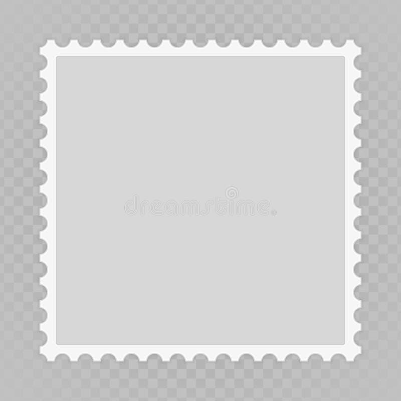 Leere Briefmarke lizenzfreie abbildung