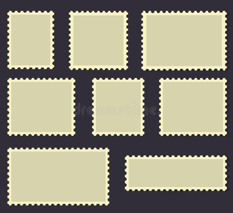 Leere Briefmarke-Rahmenvektorillustration stock abbildung