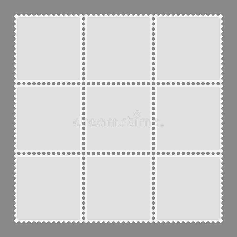 Leere Briefmarkeschablone stock abbildung