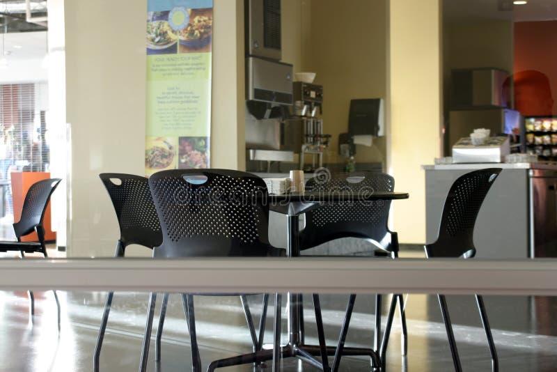 Leere Cafeteria stockfotografie