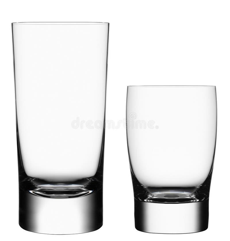Leere Cocktailgläser lizenzfreie stockfotos