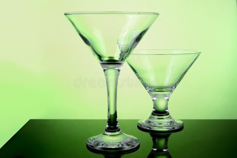 Leere Cocktailgläser stockbilder