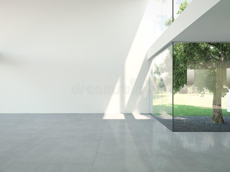 Leere Dachbodenwohnung Wiedergabe 3d lizenzfreie abbildung