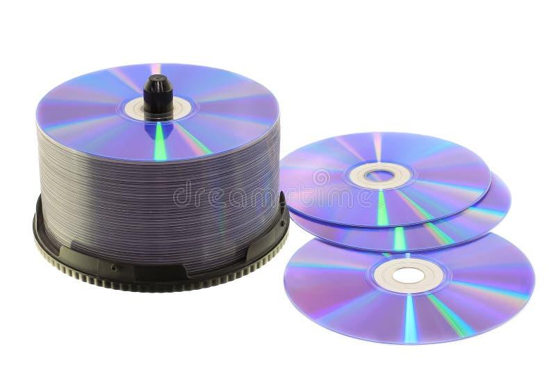 Leere dvd Disketten stockbilder