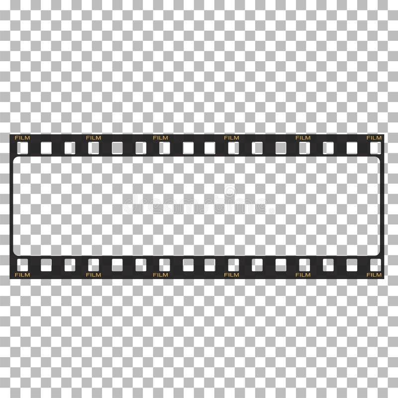 Leere Filmrahmen-Vorratillustration Bild des Rahmenfilmvektors lizenzfreie abbildung