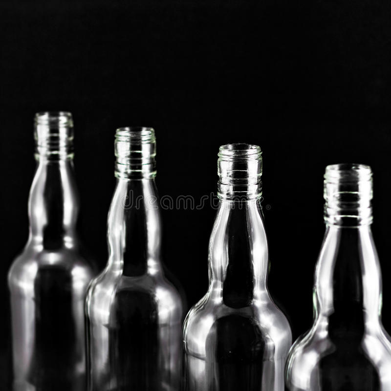 Leere Flasche stockfotos