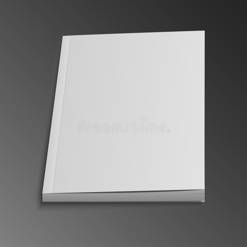 Leere Fliegen-Titelseite der Zeitschrift, Buch, Broschüre, Broschüre lizenzfreie abbildung