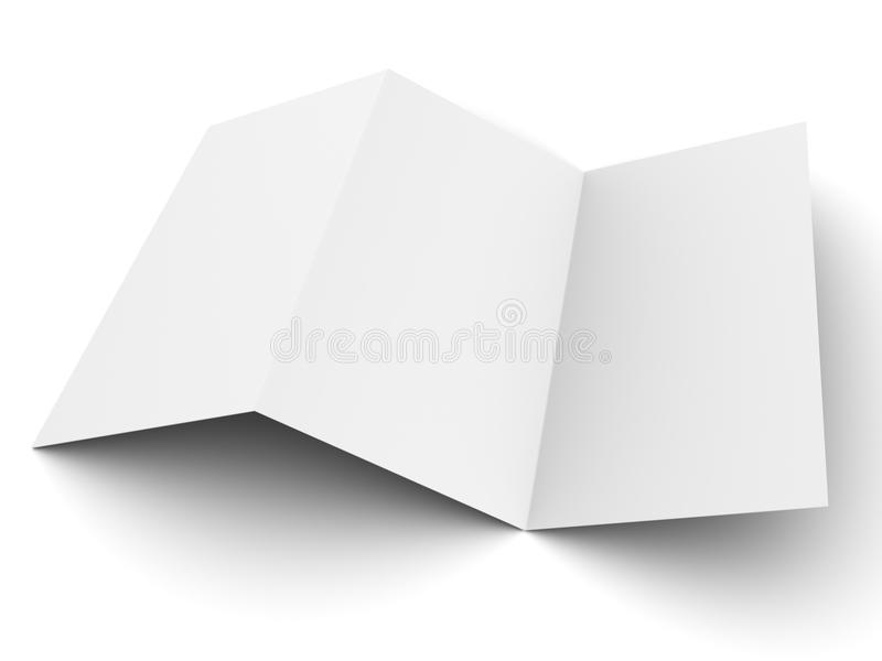 Leere Flugblattmodellbildschirmanzeige lizenzfreie abbildung